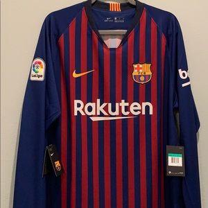 Nike Barcelona Long Sleeve Home Jersey 2018